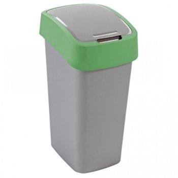 Кошче за отпадъци, с люлеещ капак, зелено image