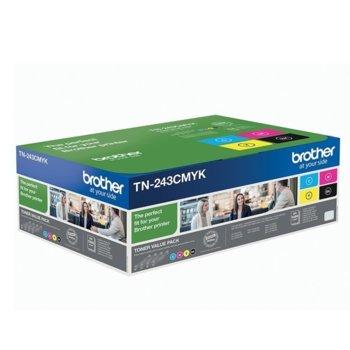 Тонер касети Brother TN-243CMYK, 4 цвята (Черен, Червен, Син и Жълт), до 1 000 страници, ISO/IEC 19798 image