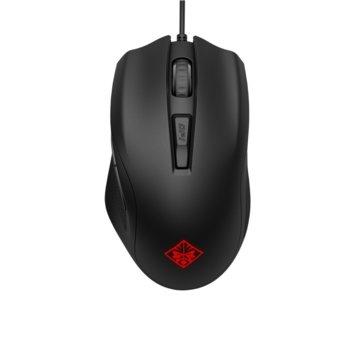 Мишка HP Omen 400, гейминг, оптична (5000 dpi), 6 програмируеми бутона, USB, черна image