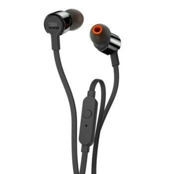 Слушалки JBL T210, микрофон, черни image