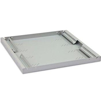 "19"" shelf, depth 350 mm, height 1U, перфорирана, сива image"