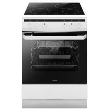 Готварска печка Amica 618CE2.30(W) 55355, 4 нагревателни зони, 62л. обем, 8 функции, въртящ се шиш-грил, програматор, бяла image