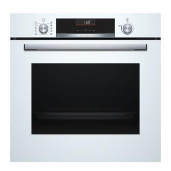 Фурна за вграждане Bosch HBA5360W0 SER6, клас A, 71 л. обем, AutoPilot 10, 3D горещ въздух, грил, бяла image