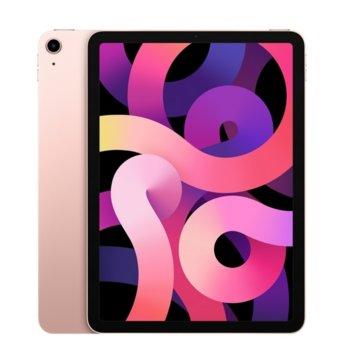 "Таблет Apple iPad Air 4 Wi-Fi (MYFX2HC/A)(златист), 10.9"" (27.69 cm) Retina дисплей, шестядрен A14 Bionic, 4GB RAM, 64GB Flash памет, 12.0 & 7.0 MPix камера, Ipad OS image"