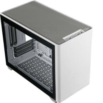 Кутия Cooler Master MasterBox NR200P, Mini ITX/Mini DTX, 2x USB 3.2 Gen1, страничен прозорец от закалено стъкло, бяла, без захранване image