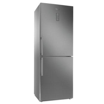 Хладилник с фризер Hotpoint-Ariston HA70BE 72X, клас E, 444L, свободностоящ, 324 kWh/годишно, отделение за контрол на влажността, инокс image