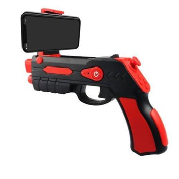 Джойстик Omega Remote Augmented Reality Gun Blaster, съвместим с Android/iOS, Bluetooth, черен/червен image