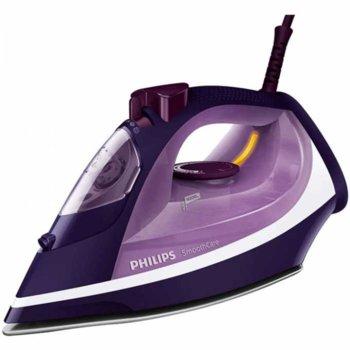 Парна ютия Philips GC 3584 / 30 с подарък четка за почистване на дрехи Philips GC026 / 00, пара до 45 г/мин., парен удар до 180 гр., 400 мл резервоар, 2600W, лилава image