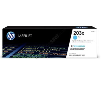 Касета за HP Color LaserJet Pro M254nw, M254dw, MFP M280nw, MFP M281fdn, MFP M281fdw - 203X - Cyan - P№ CF541X - 2 500k image