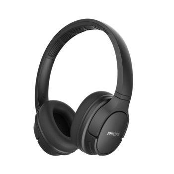 Слушалки Philips ActionFit TASH402BK, безжични, микрофон, Bluetooth, водоустойчиви, бързо зареждане, черни image