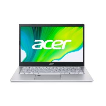 "Лаптоп Acer Aspire 5 A514-54 (NX.A28EX.008)(сребрист), двуядрен Tiger Lake Intel Core i3-1115G4 4.1 GHz, 14"" (35.56 cm) Full HD IPS Anti-Glare Display, (HDMI), 8GB DDR4, 512GB SSD, 1x USB Type-C, NO OS  image"
