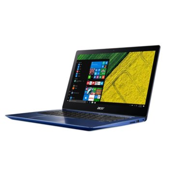 "Лаптоп Acer Swift 3 SF314-52G-85L8 (NX.GQWEX.005)(син), четириядрен Kaby Lake R Intel Core i7-8550U 1.8/4.0GHz, 14"" (35.56 cm) Full HD IPS Anti-Glare Display & GF MX150 2GB, (HDMI), 8GB DDR4, 256GB SSD, 2x USB 3.0, Windows 10 Home, 1.6kg image"