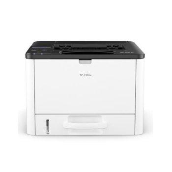 Лазерен принтер Ricoh SP 330DN, монохромен, 1200 x 1200 dpi, 32 стр./мин, LAN, USB, А4 image