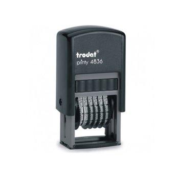 Номератор Trodat, 6 цифри, височина на шрифта 3.8 mm image