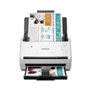 Скенер Epson WorkForce DS-570W, 600 x 600 dpi, A4, двустранно сканиране, ADF, Wi-Fi, USB 3.0, бял image