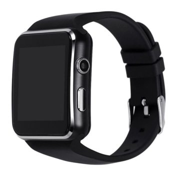 Смарт часовник Diva SM0715B, Bluetooth 3.0, Micro SIM слот, 1.54″ (3.91 cm) TFT LCD дисплей, Android, черен image