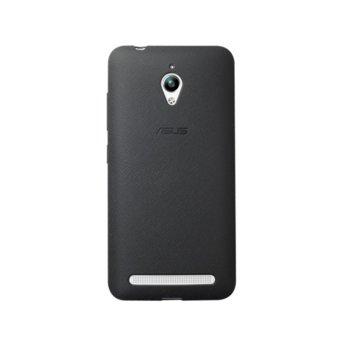 Калъф за Asus ZenFone Go, страничен протектор с гръб, поликарбонатов, Asus Bumper ZC500TG, черен image