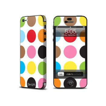 """Скин """"стикер"""" Decalgirl Multidot, за iPhone 5/5S, обхваща и антената image"""