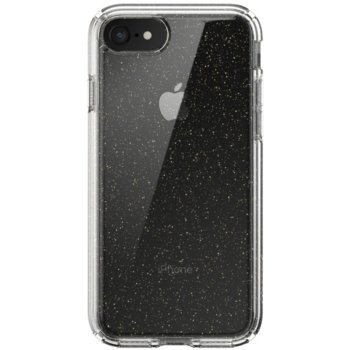 Калъф за Apple Iphone SE/8/7 , хибриден, Speck Presidio Clear + Glitter 136213-5636, удароустойчив, прозрачен image