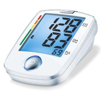 Апарат за кръвно налягане Beurer BM 44, над лакътя, индикатор за неправилно използване, индикатор за аритмия, автоматично изключване, риск индикатор, бял image