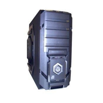 Кутия JNC Rocker, Геймърска, ATX, черна, USB, без захранване image