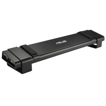 Докинг станция Asus HZ-3A Plus Docking Station, 4x USB 3.0, 1x HDMI, 1x DVI, 1x LAN1000, mic & audio 3.5mm jacks, черна image