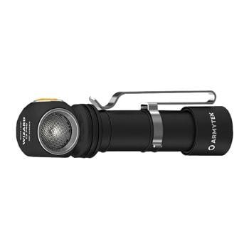 LED фенер Armytek Wizard C2 Pro Magnet USB White (F08701C), захранване 18650 Li-Ion батерия 3500mAh, 2500 Lumens, 6200 cd, IP68 водоустойчивост, 12 режима на работа, черен image