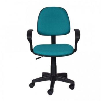 Работен стол OKOffice 6012 ECO, пластмасови подлакътници, газов амортисьор, коригиране на височината, син image