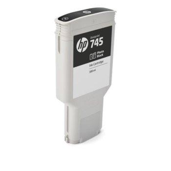 Мастило ЗА HP DesignJet Z2600, Z5600 - Photo Black - 745 - P№ F9K04A - заб.: 300ml image