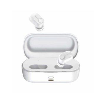 Слушалки Baseus Encok W01 TWS, безжични (Bluetooth 5.0), микрофон, 6 часа време за работа, бели image