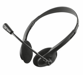 Слушалки TRUST Ziva Chat, микрофон, 30-16.000Hz, черни image