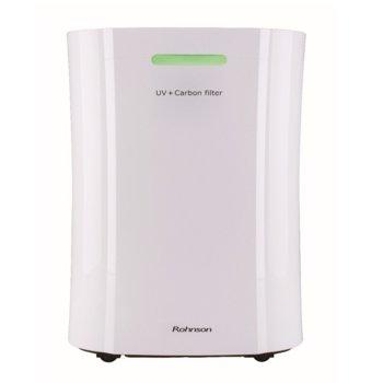 Обезвлажнител Rohnson R-9290, за площ до 120 m2, UV лампа, йонизация, 20 л./24 часа капацитет, таймер, бял  image