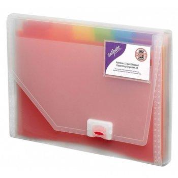 Папка Snopake Rainbow expanding, 12 ярки цветни делители, поставка за визитка image