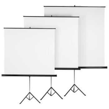 "Екран Hama, със стойка трипод, White, 1250 х 1250 мм, 69"" (175.26 cm), 1:1 image"