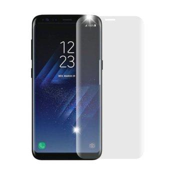 Протектор от закалено стъкло /Tempered Glass/ за Samsung Galaxy S8 G950 Edge FullFace, прозрачен image