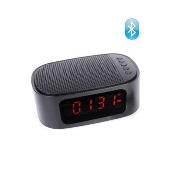 Тонколона Gibox GT-1, 1.0, Bluetooth, USB, AUX, SD Card, LCD дисплей, черна, часовник с аларма image