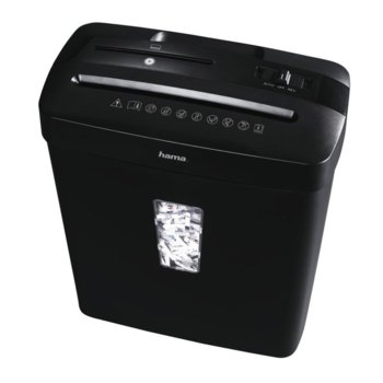 Шредер, HAMA Basic X7CDA, до 7 листа А4, CD, DVD дискове и пластмасови карти image
