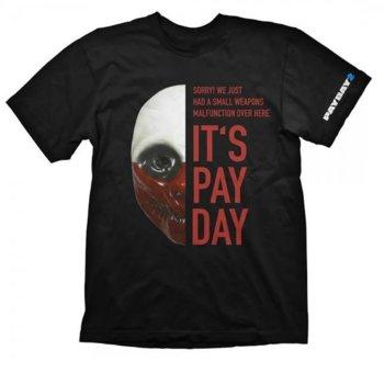 Тениска Gaya Entertainment Payday 2 Wolf Mask, размер L, черна image