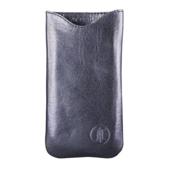 Кожен протектор JT Berlin SlimFit Case за iPhone 6/6S/7, естествена кожа, черен image