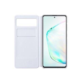 Калъф за Samsung Galaxy Note 10 Lite, Flip cover, текстилен, Samsung S-View Wallet EF-EN770PWEGEU, бял image