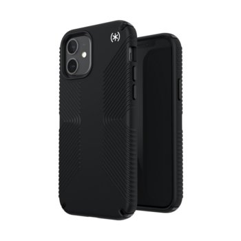 Калъф за Apple iPhone 12 / iPhone 12 Pro, поликарбонатов, Speck PRESIDIO2 GRIP (138487D143), удароустойчив, черен image