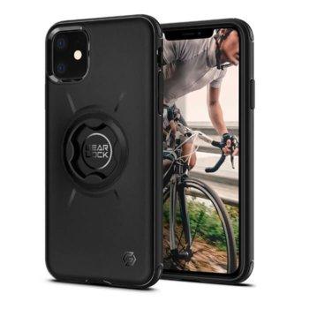 Калъф за Apple iPhone 11, хибриден, Spigen GearLock Bike Mount ACS00279, удароустойчив, вграден GearLock механизъм, черен image