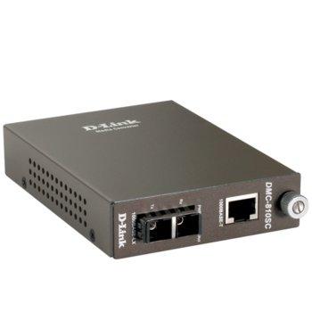D-Link DMC-810SC 1000BaseT to 1000BaseLX SC, Singlemode Media Converter image