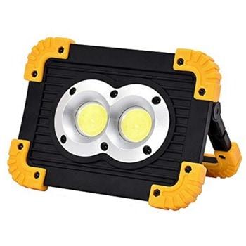 Акумулаторна къмпинг LED лампа LL-802 536565, 2x Li-on 18650, 1000 Lumens, IP44 защита, 6500 К, 3 режима на работа, черен image