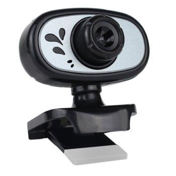 Уеб камера Kisonli HD-1083, микрофон, 1920x1080 / 30FPS, автоматичен баланс на бялото, USB, черна image