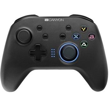 Геймпад Canyon CND-GPW3, безжичен, за PC/PS3/Switch/Android, Wireless 2.4 GHz, USB Type C, черен image