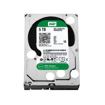 """Твърд диск 5TB WD Green, SATA 6Gb/s, 64MB, 3.5""""(8.89 cm) image"""