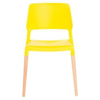 Трапезен стол Carmen 9967, жълт image