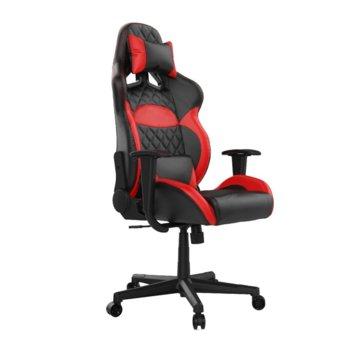 Геймърски стол Gamdias Zelus E1 L, кожа, до 190 кг натоварване, облегалка за гърба с 135 градуса регулиране, чевен image