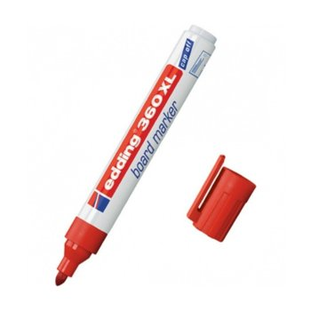 Презареждаем маркер Edding 360XL червен, 1.5 - 3.0 mm, за бяла дъска image